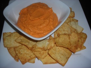 roasted red pepper hummus 005