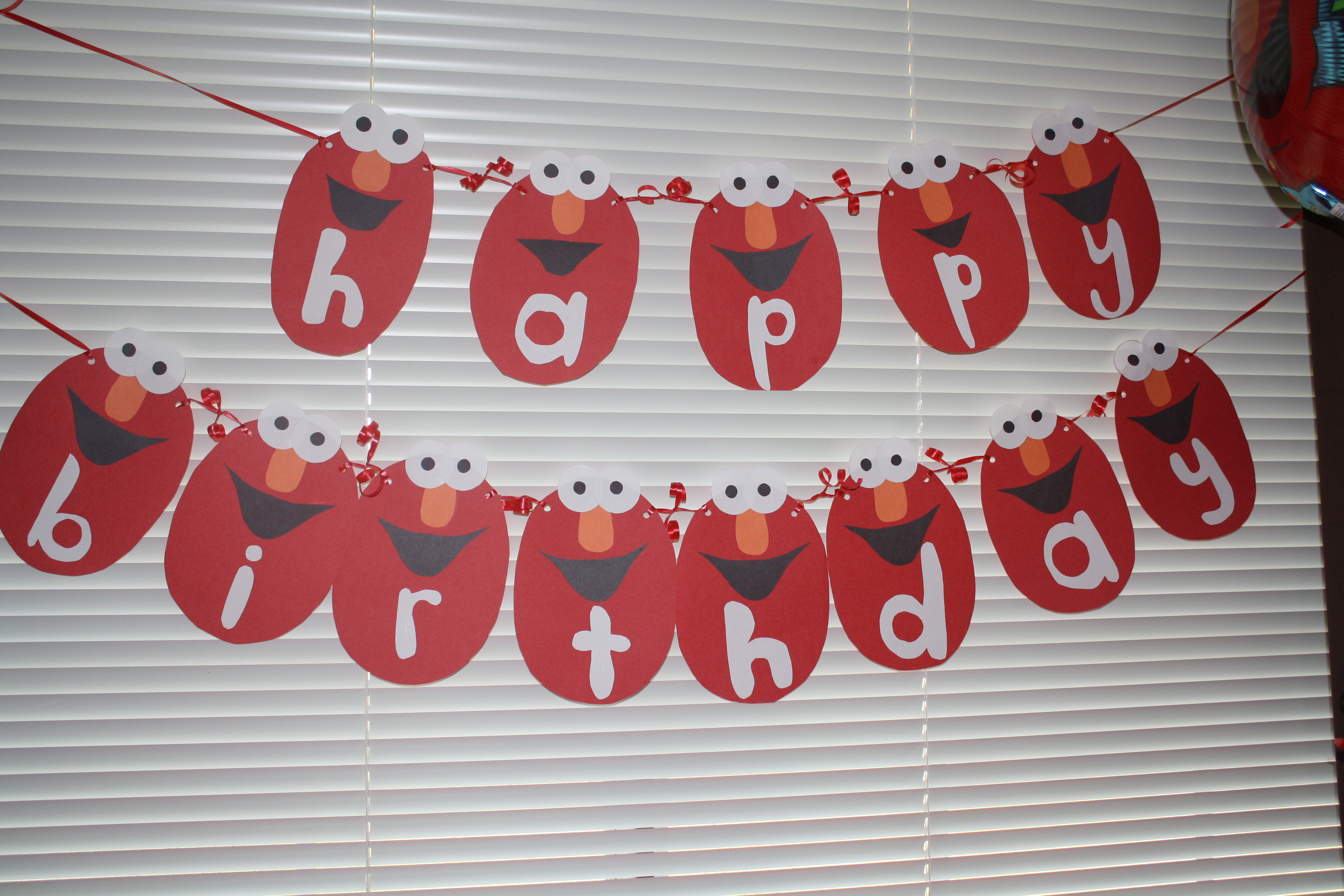 Homemade elmo birthday decorations image inspiration of cake and alfa img showing happy birthday elmo banner filmwisefo Choice Image