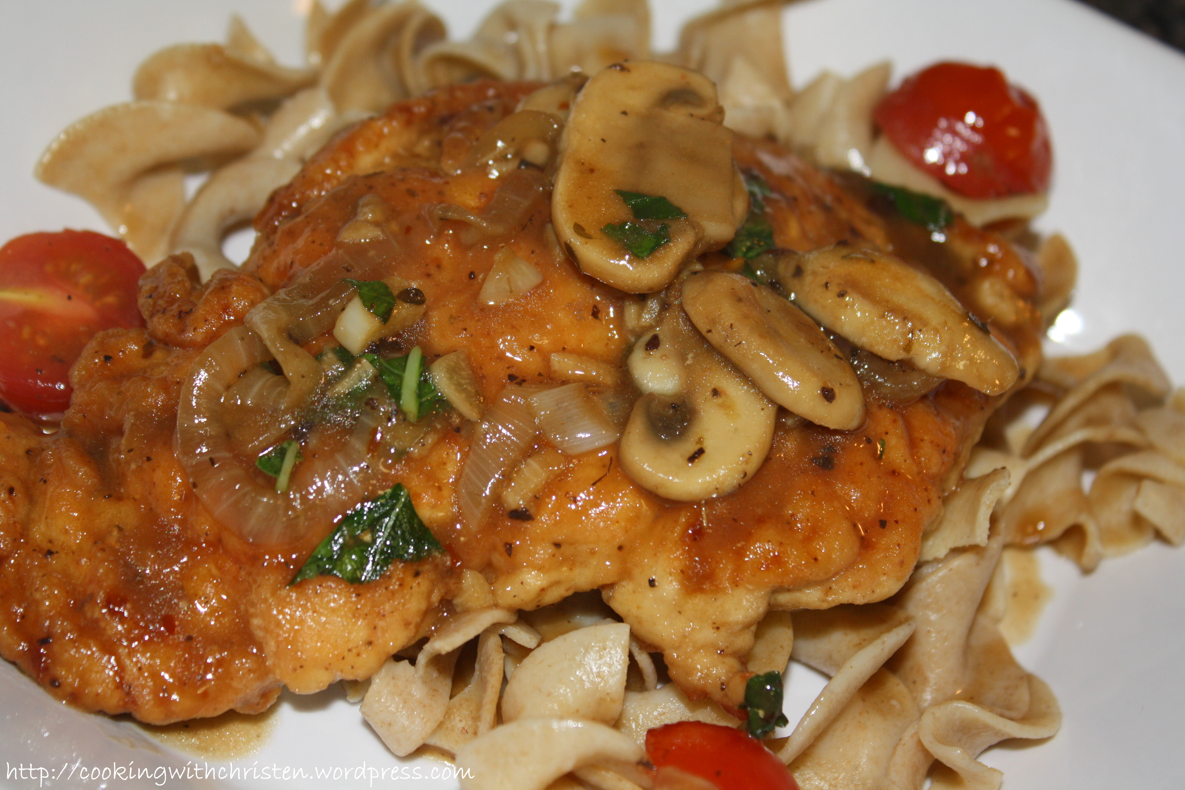 Chicken and Mushrooms with Marsala Wine Sauce | Cooking With Christen