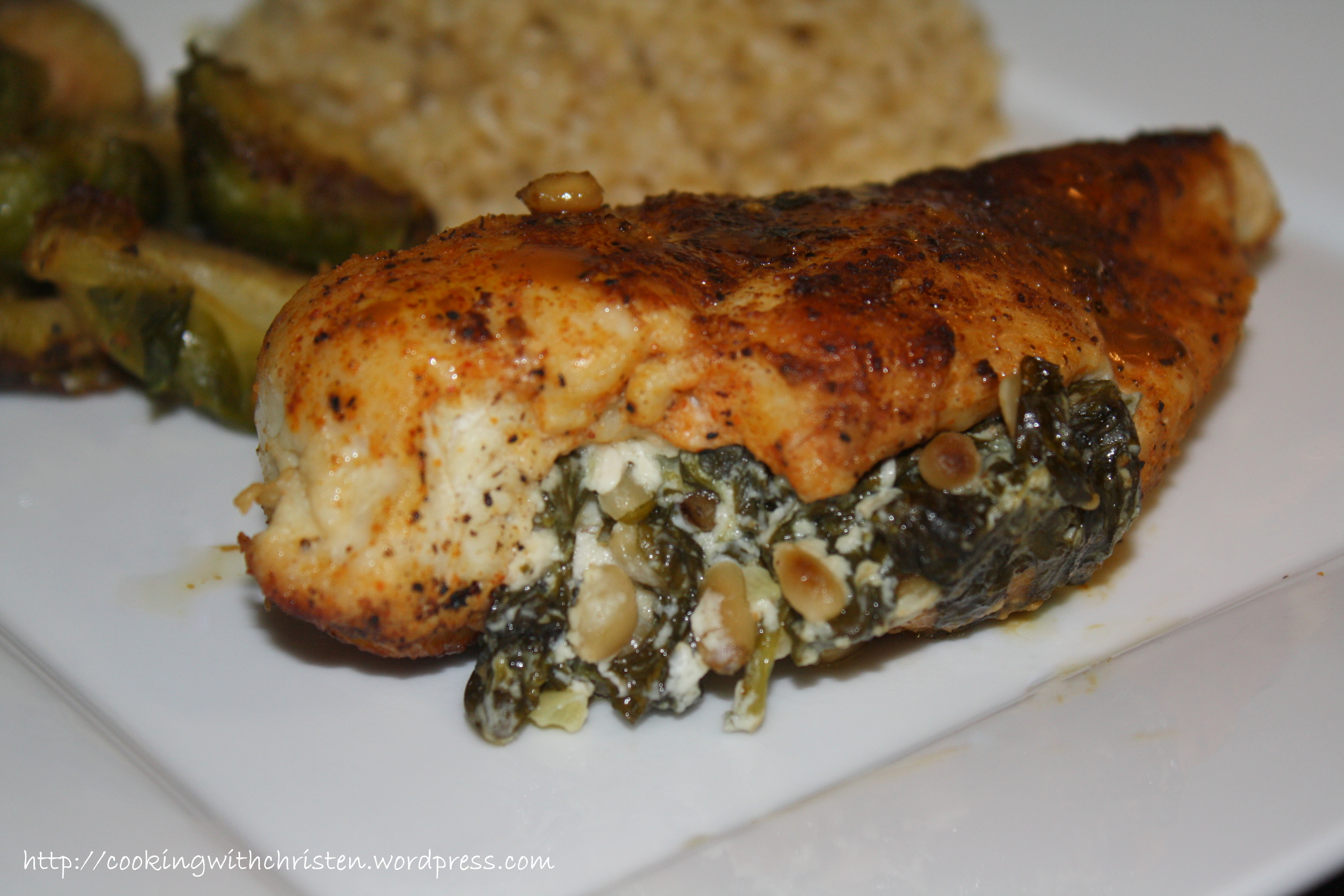 Chicken Stuffed with Spinach, Goat Cheese and Pine Nuts | Cooking With ...