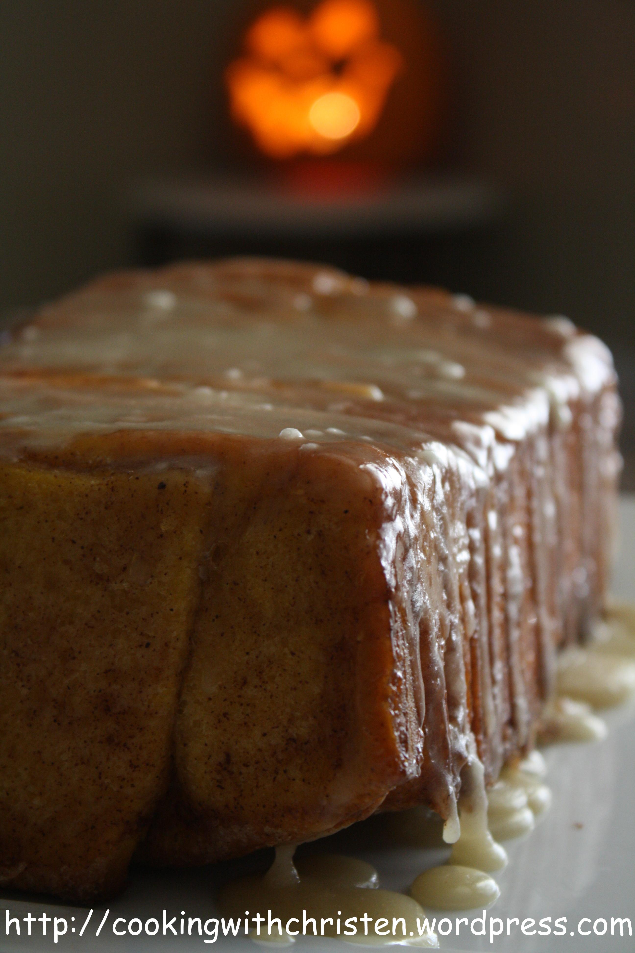 Pumpkin Rum Cake With Brown Sugar Icing