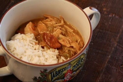 Chicken, Shrimp, and Andouille Gumbo